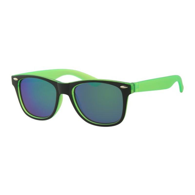 Kids Wayfarer zonnebril Groen/zwart