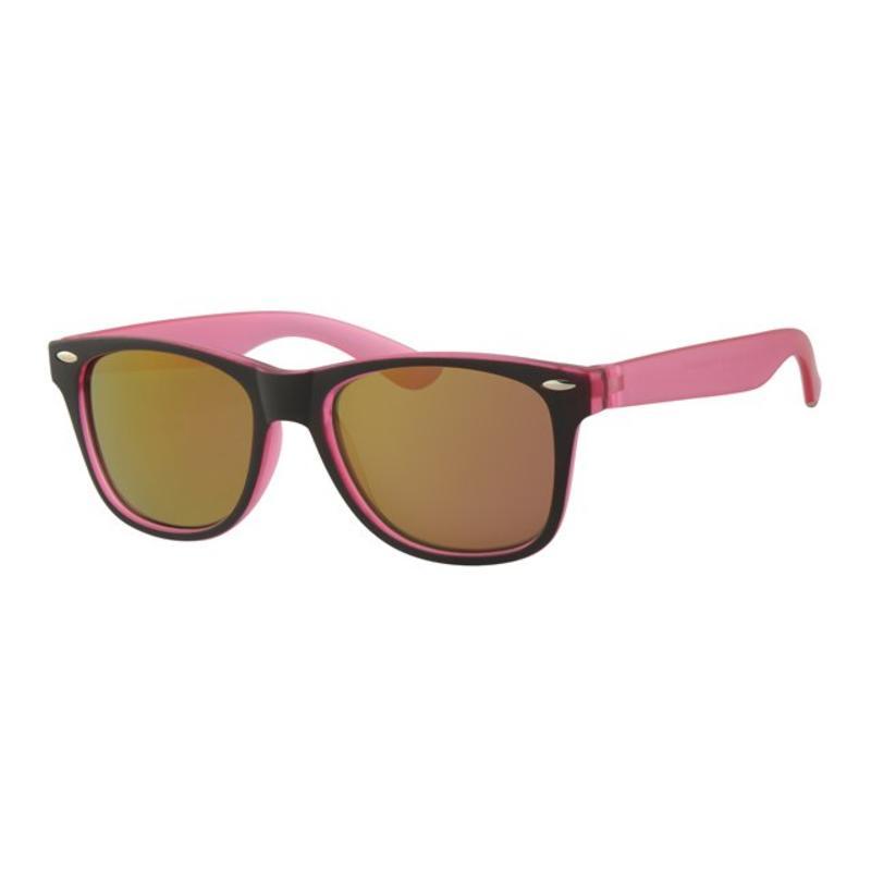 Kids Wayfarer zonnebril Roos/zwart
