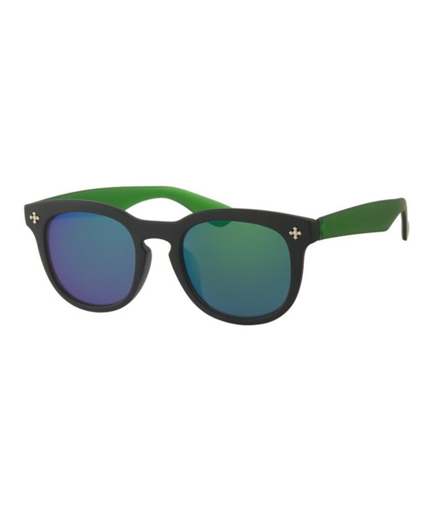 Kids Clubmaster zonnebril Groen/zwart