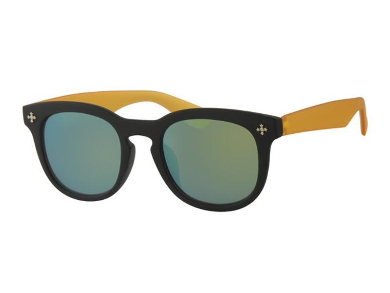 Kids Clubmaster zonnebril Geel/zwart