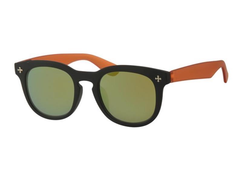 Kids Clubmaster zonnebril Oranje Zwart Kids Clubmaster zonnebril  Oranje Zwart ... 4021beebe931