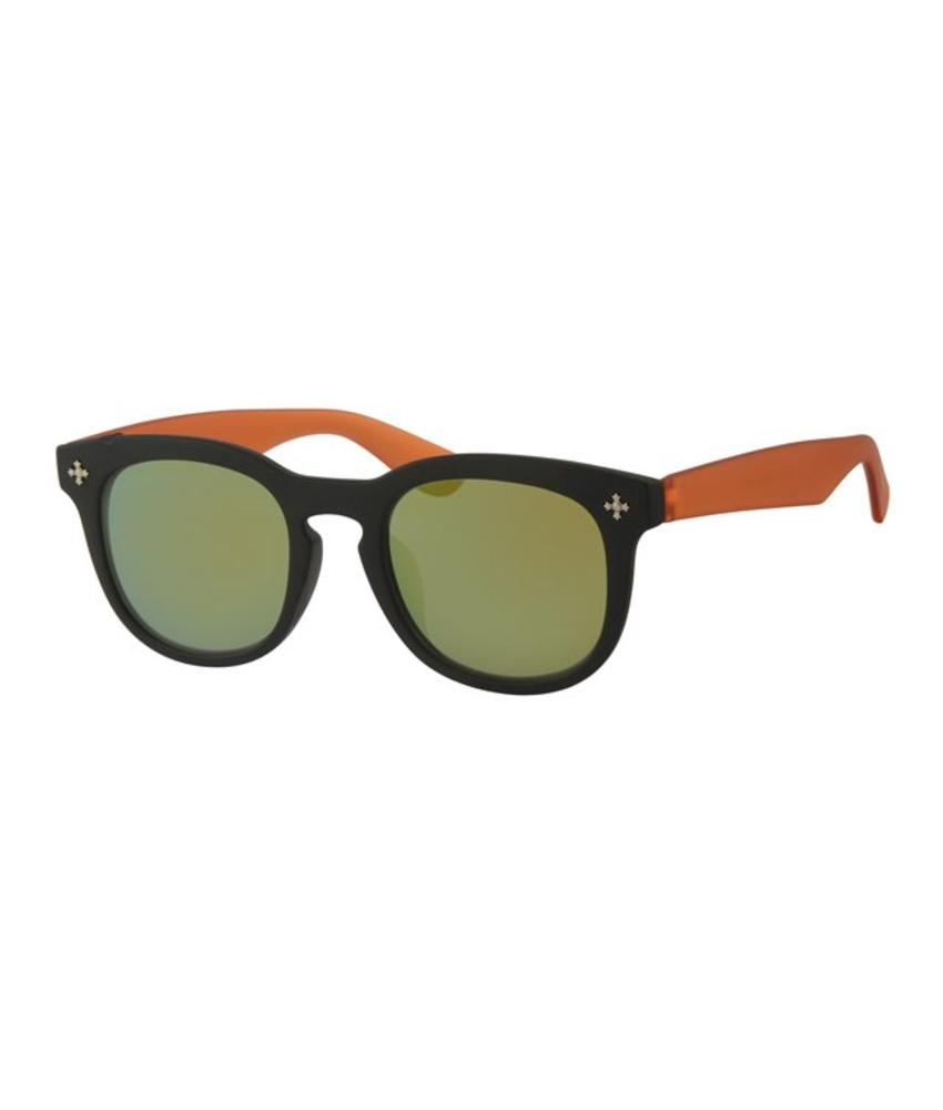 Kids Clubmaster zonnebril Oranje/Zwart
