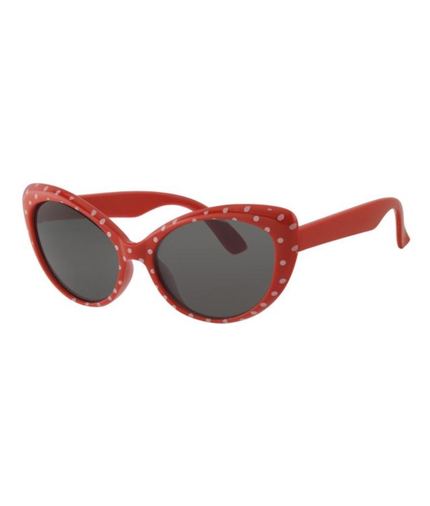 Kinder Zonnebril Rood met stippen