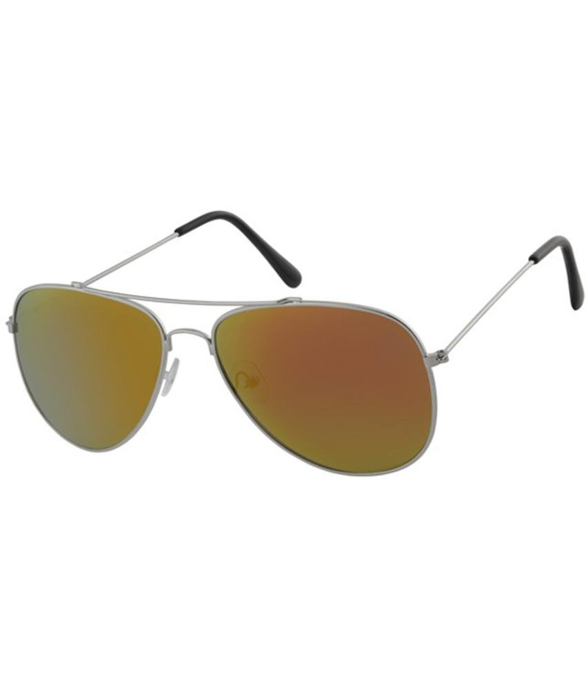 Aviator Zonnebril Silver/red