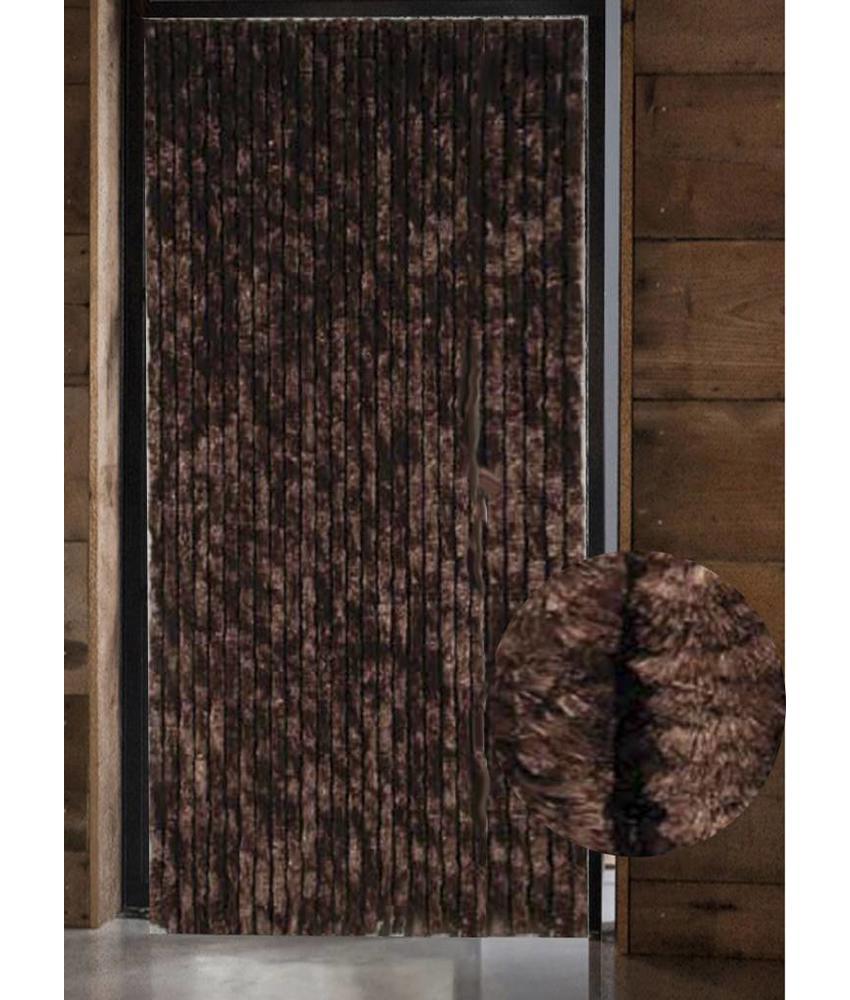 Vliegengordijn kattenstaart 125x230 cm. Bruin
