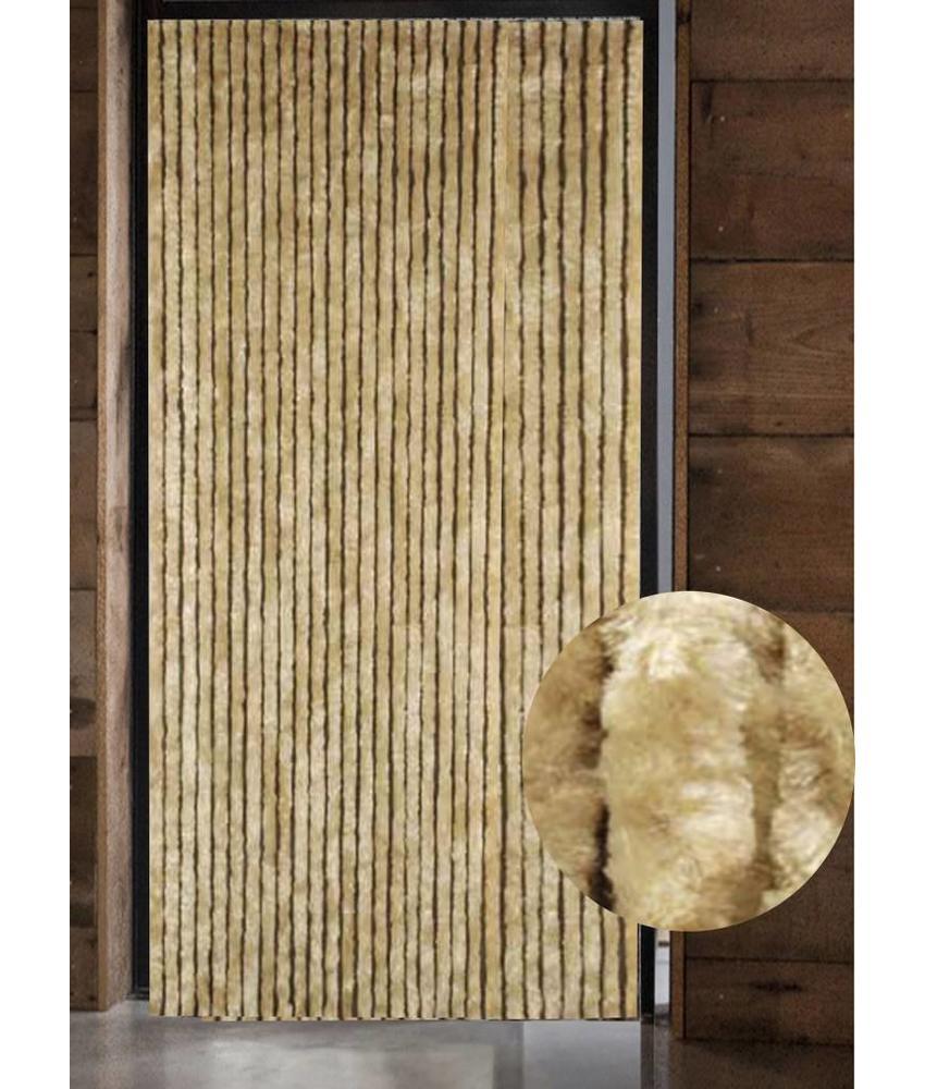 Vliegengordijn kattenstaart 125x230 cm. Beige