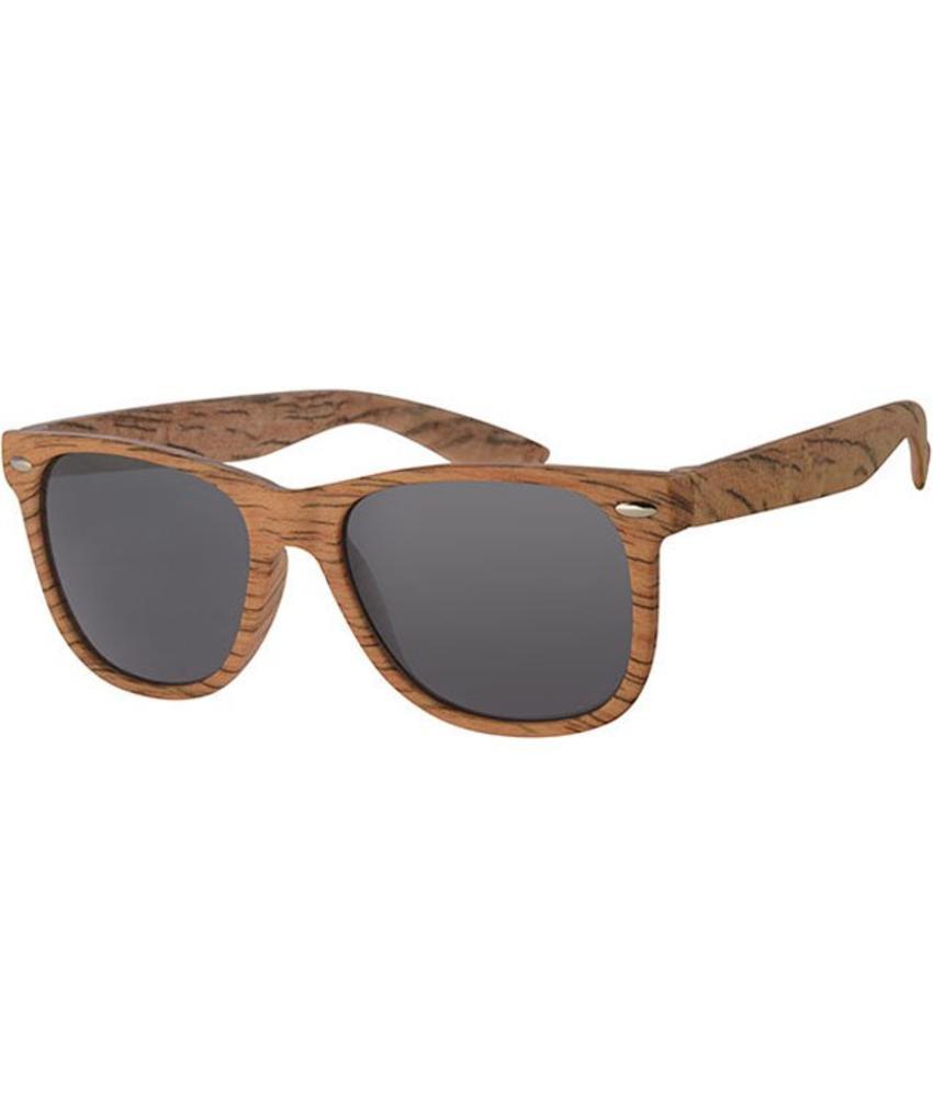 Wayfarer Zonnebril Medium wood / black