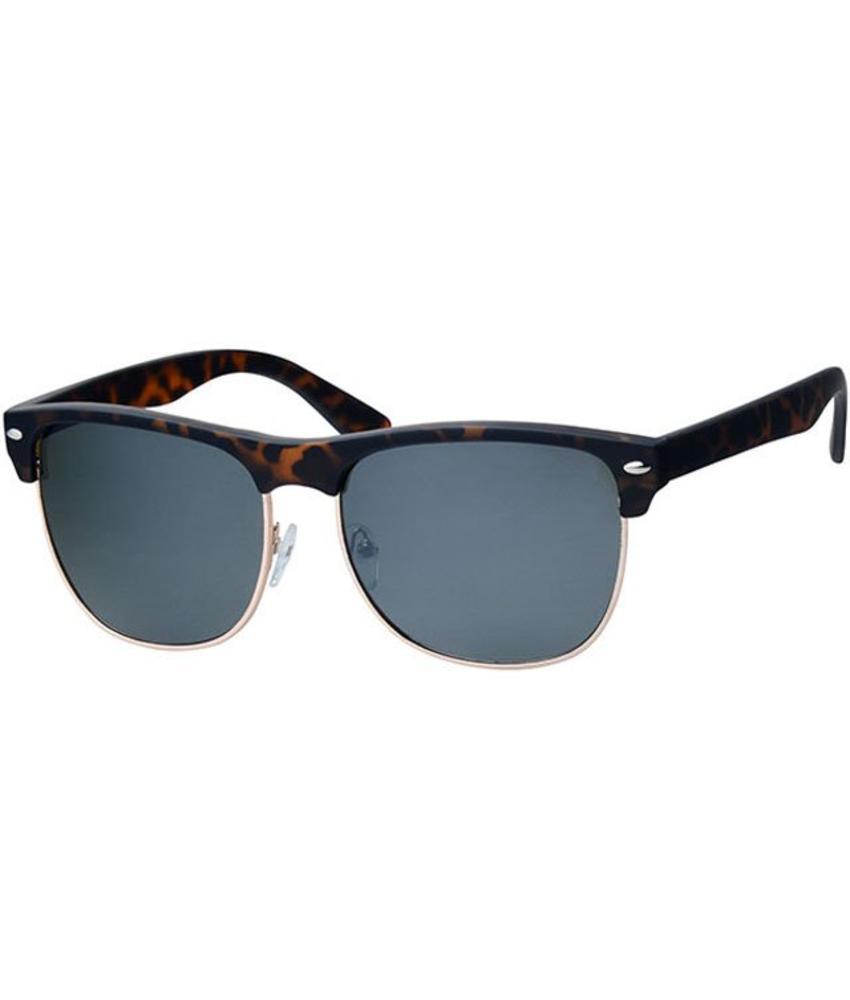 Clubmaster zonnebril Leopard / gold rim