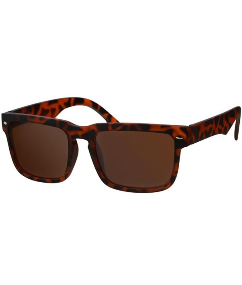Wayfarer Zonnebril leopard Bruin