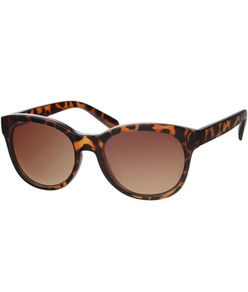 Zonnebril rond Brown Leopard II