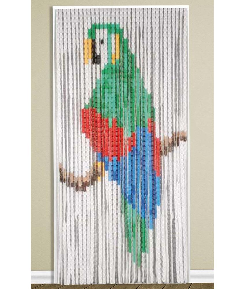 Vliegengordijn 90 x 200 cm. PVC Papegaai