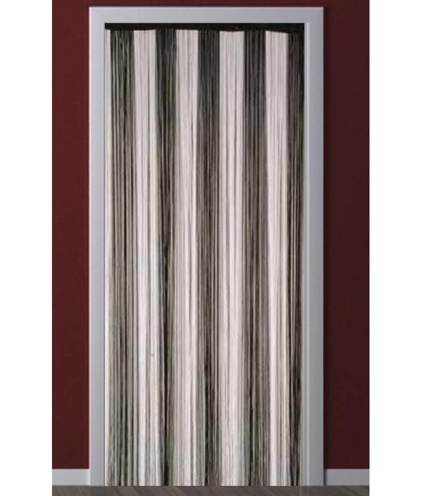 Deurgordijn Strings Wit / Zwart 90X200 cm.