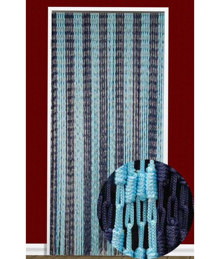 Vliegengordijn Knopen Blauw 90X200 cm.