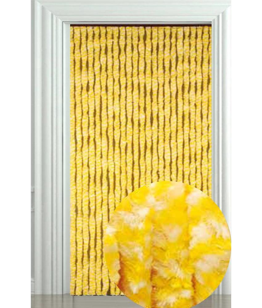 Vliegengordijn Zachte kattenstaart Geel/Wit 90x205 cm.