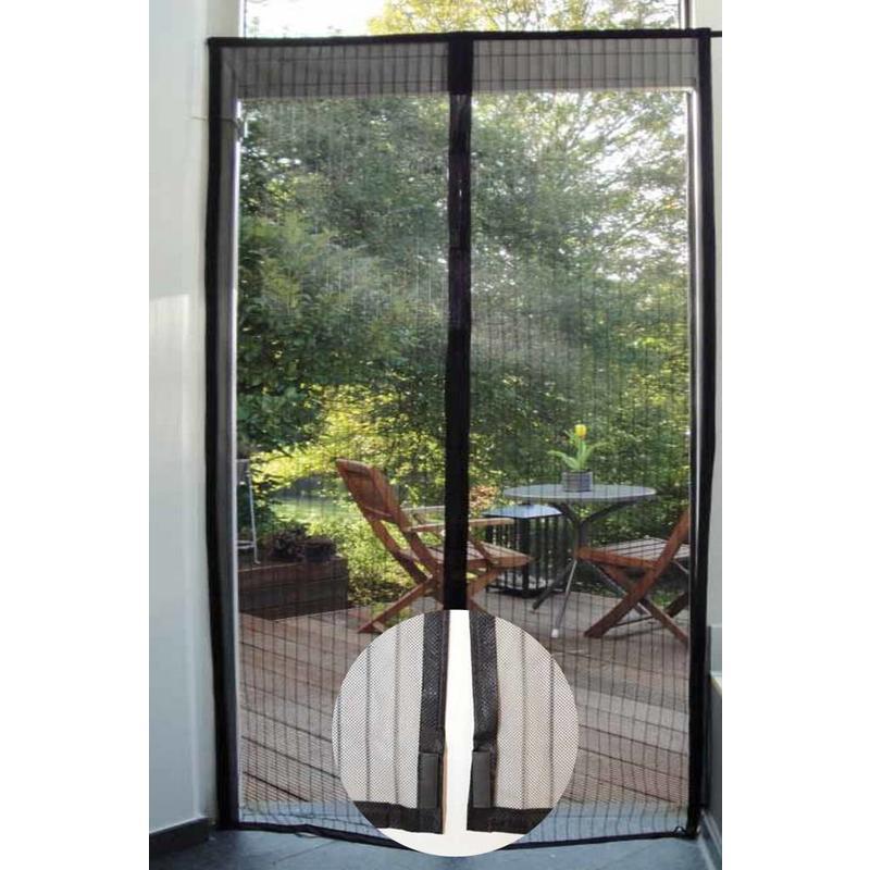 Vliegengordijn magneten 100x215 cm. Zwart