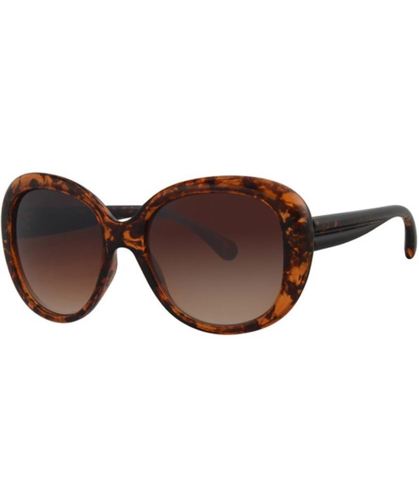 Level One Dames zonnebril Big round brown/black