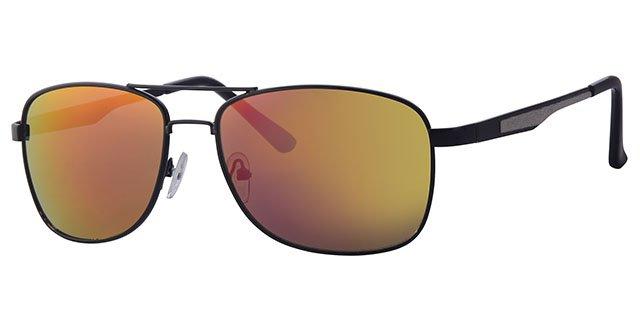 f90441e8be5f0c Level One Piloten zonnebril zwart   spiegelglas - Megatip.be