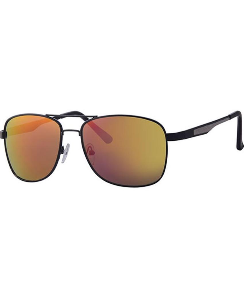 Level One Piloten zonnebril zwart / spiegelglas