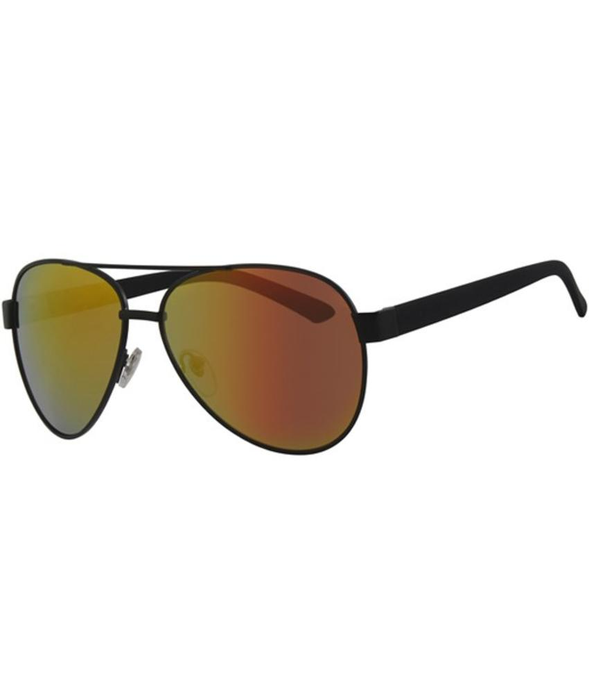 Level One Aviator Zonnebril zwart/spiegelglas