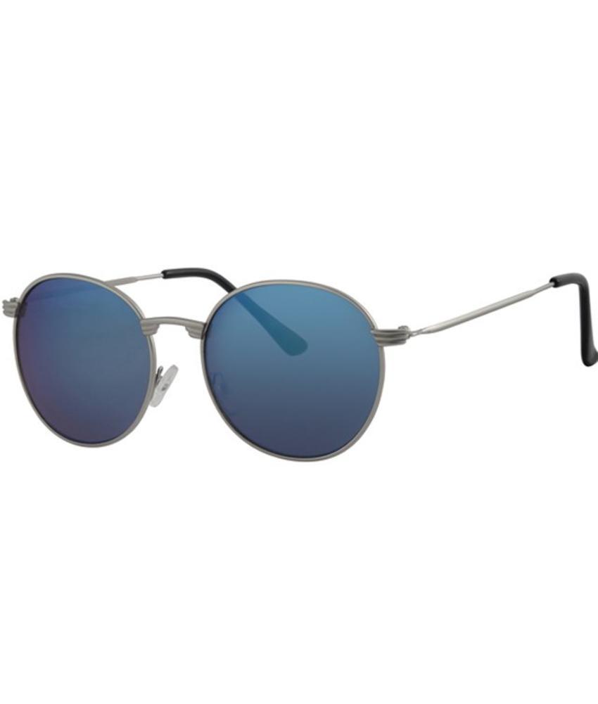 Level One Ronde zonnebril Blauw/zilver