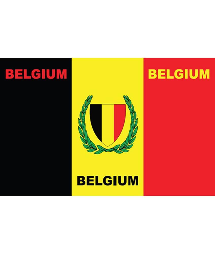 Vlag Belgium bedrukt 90 x 150 cm.