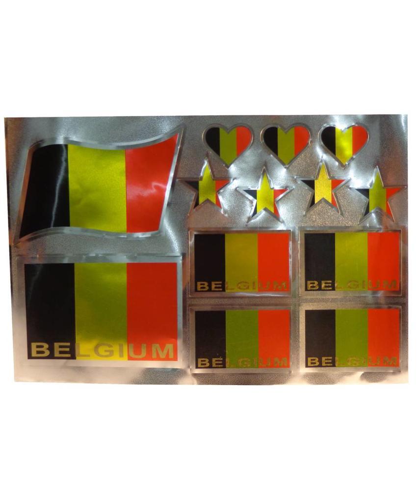 Stickers België (13 stuks)