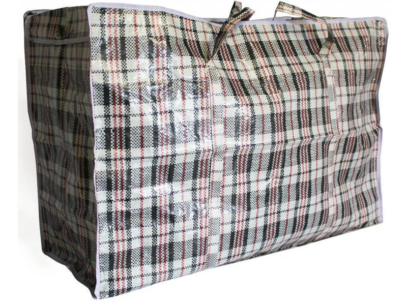 Geruite tas / Turkenzak XL 75 x 55 x 30 cm.