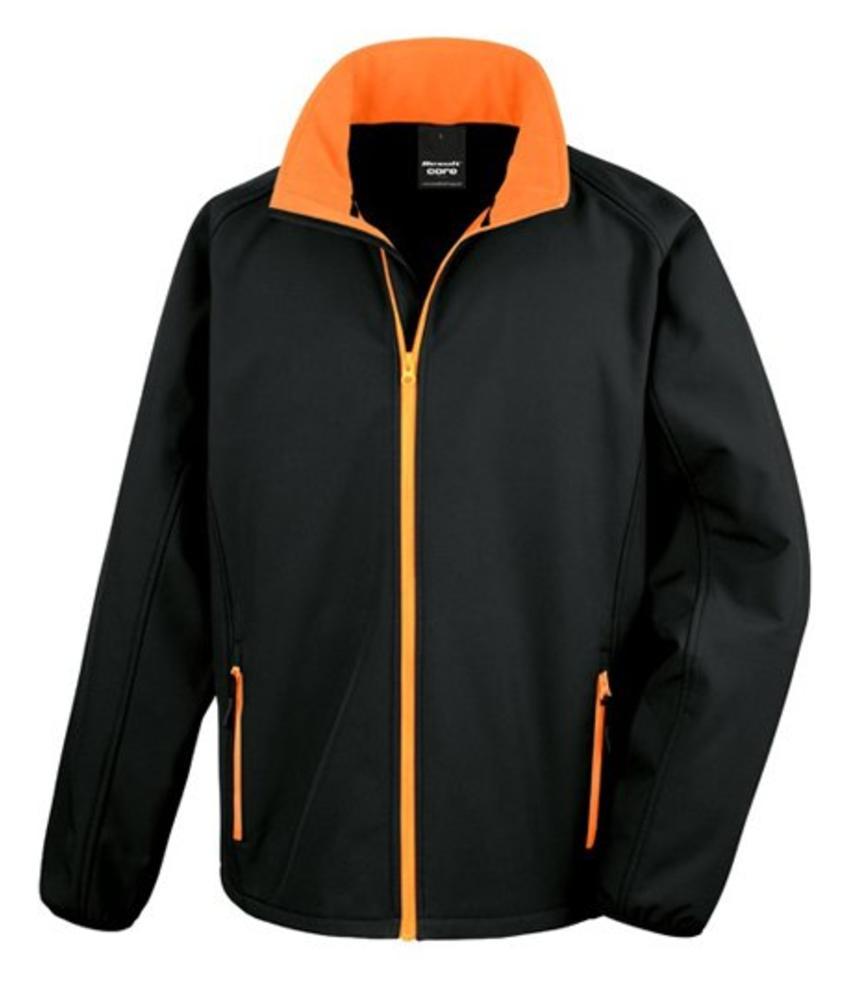 Softshell Jack Black/Orange