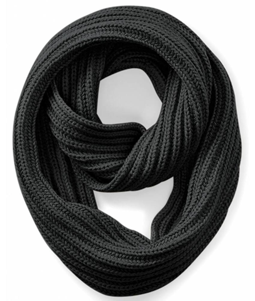 Rondgebreide sjaal Charcoal