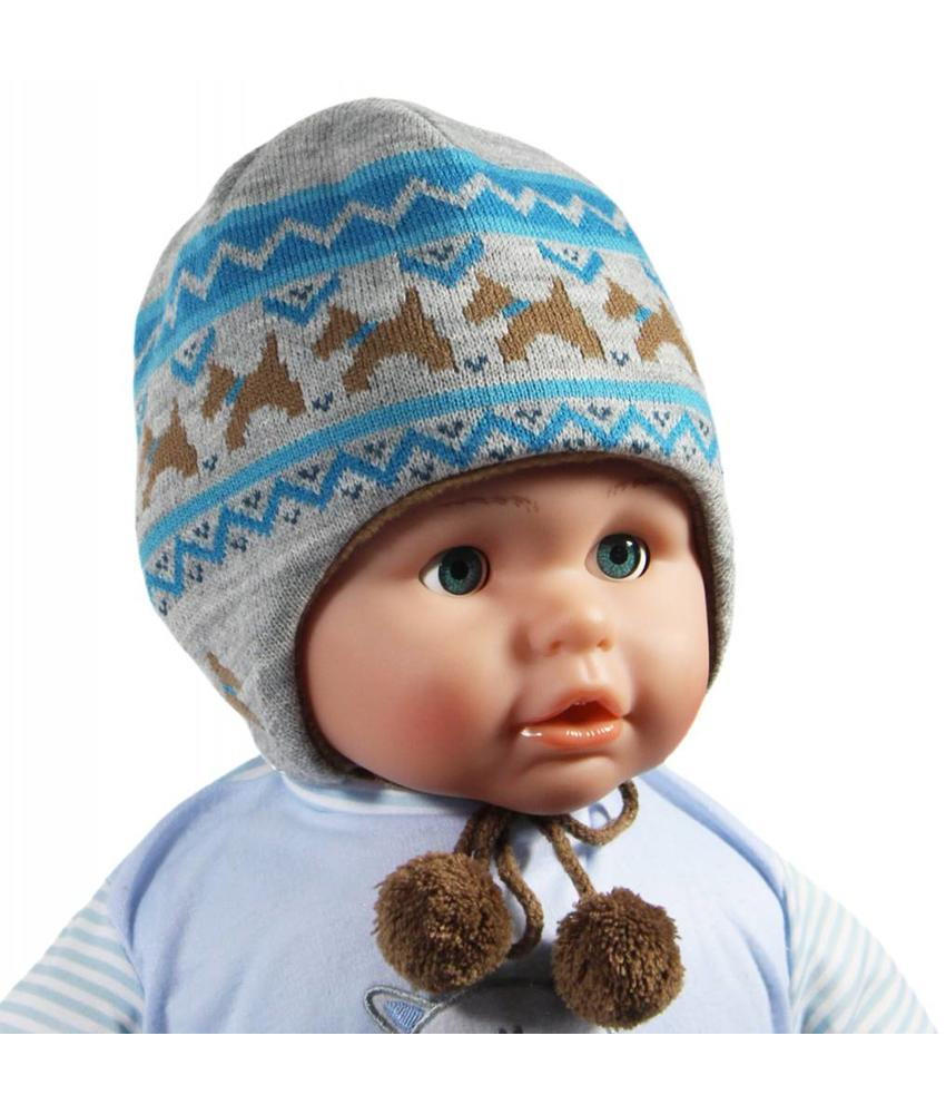 Baby Muts Grijs/Blauw hondjes