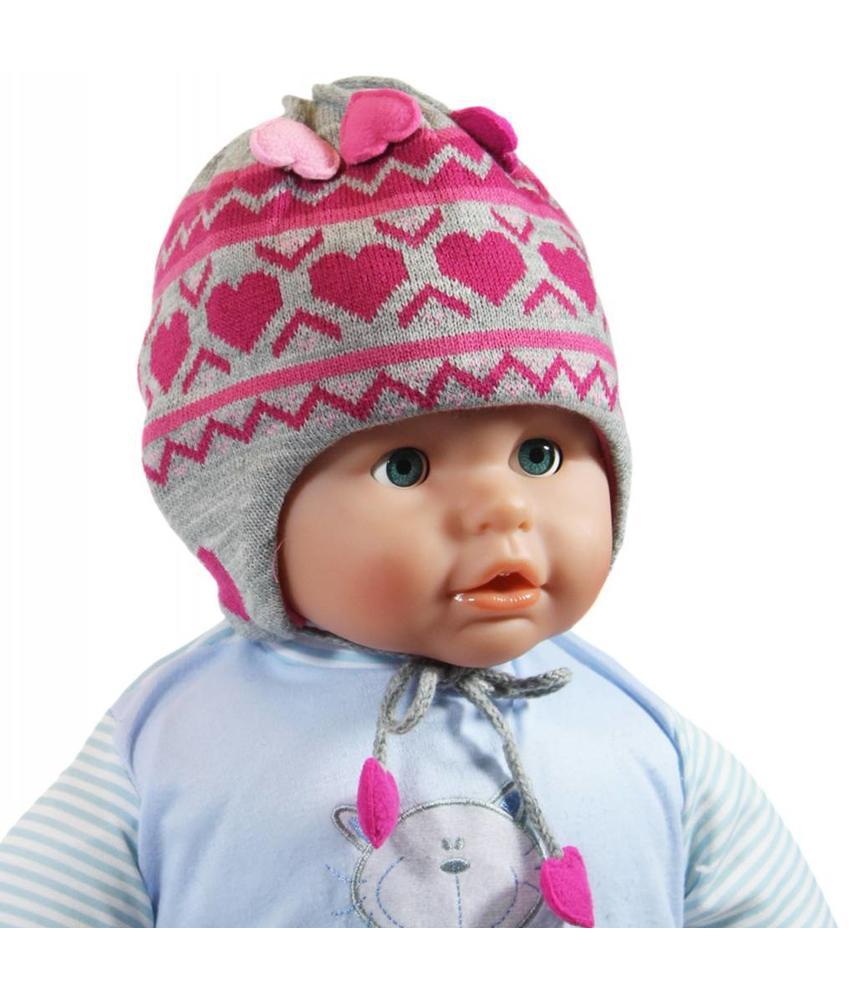 Baby Muts Grijs/Roos hartjes