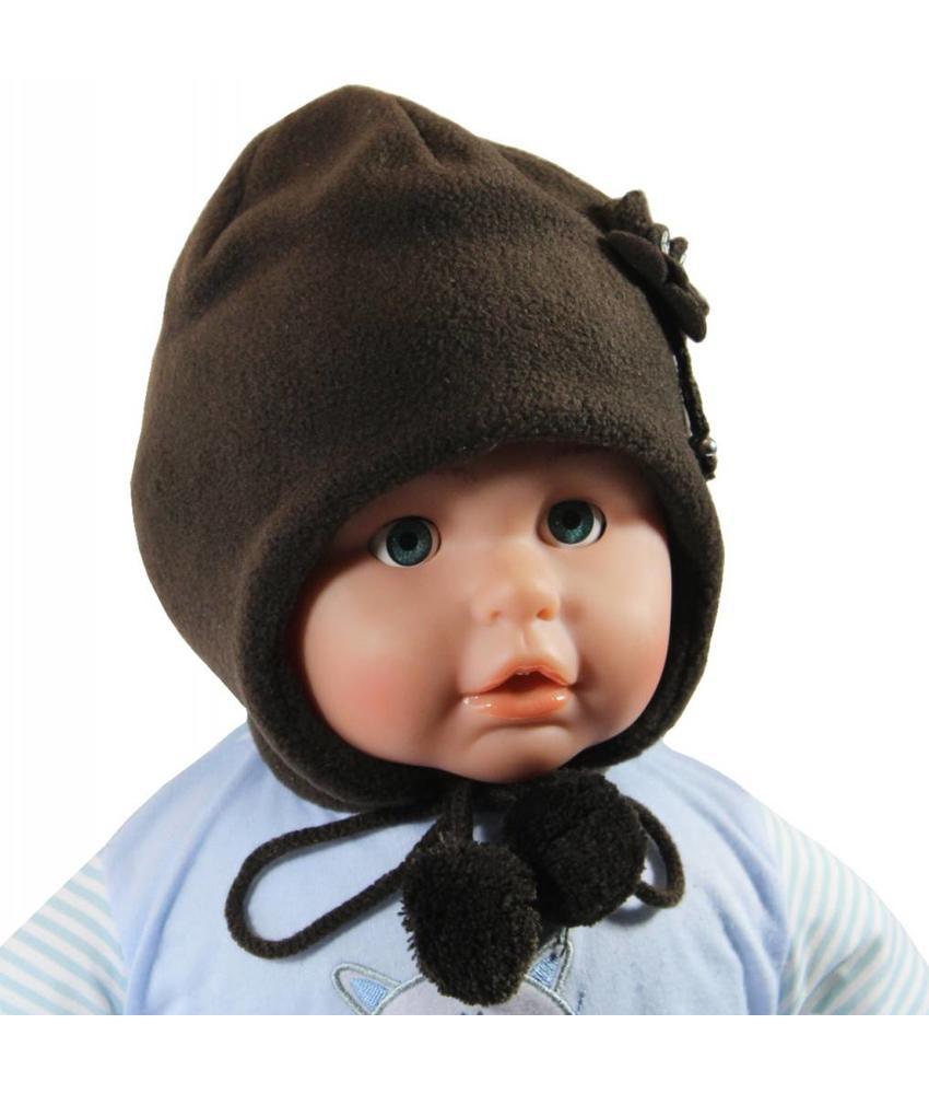 Baby / Kindermuts fleece bruin