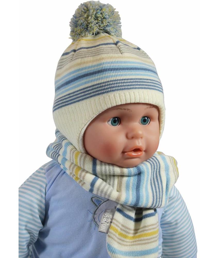Baby Muts en Sjaal gestreept