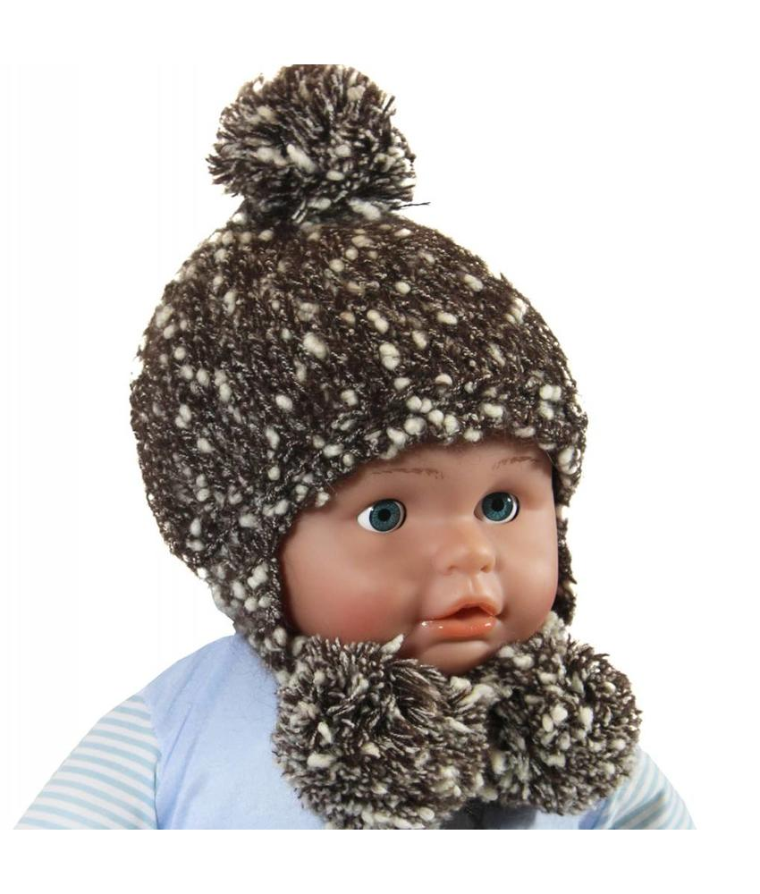 Baby- Kindermuts Mohair bruin