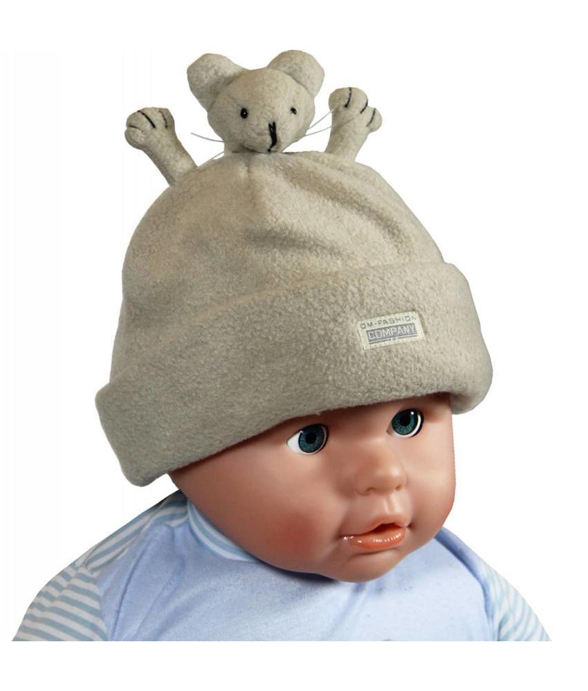Fleece muts Baby's handjes beige