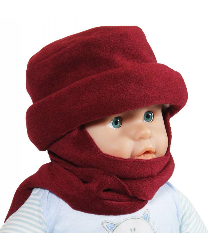 Sjaalmuts baby's bordeaux