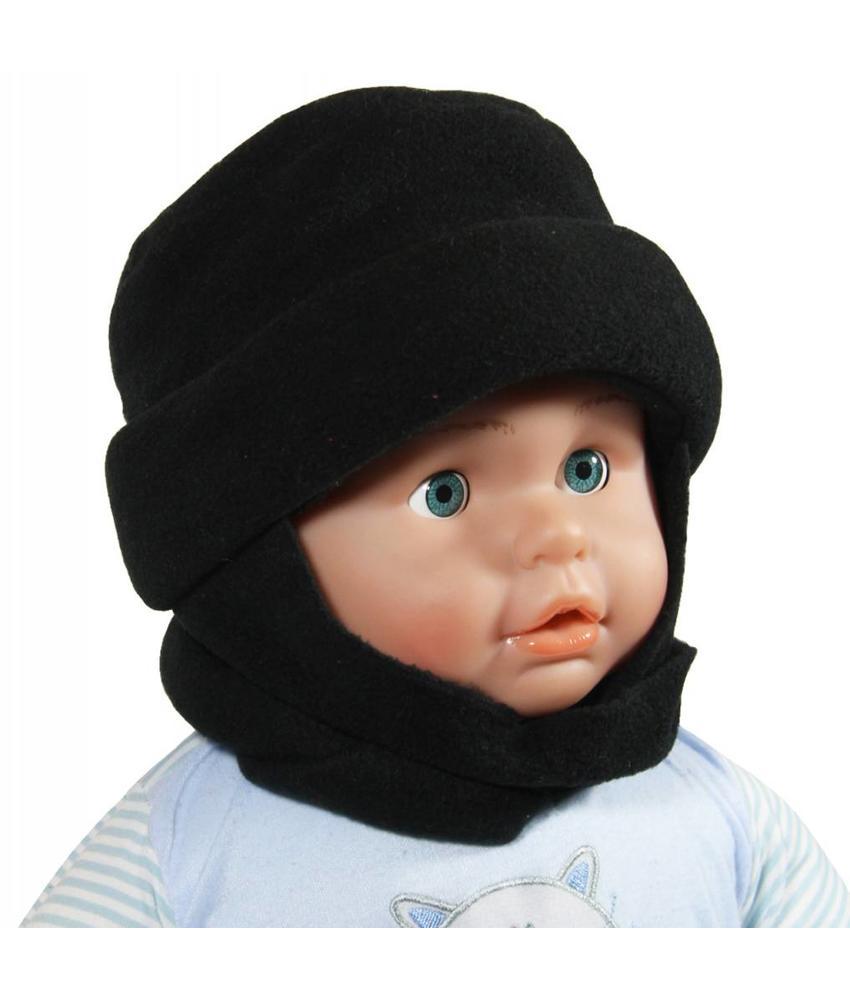 Sjaalmuts baby's zwart