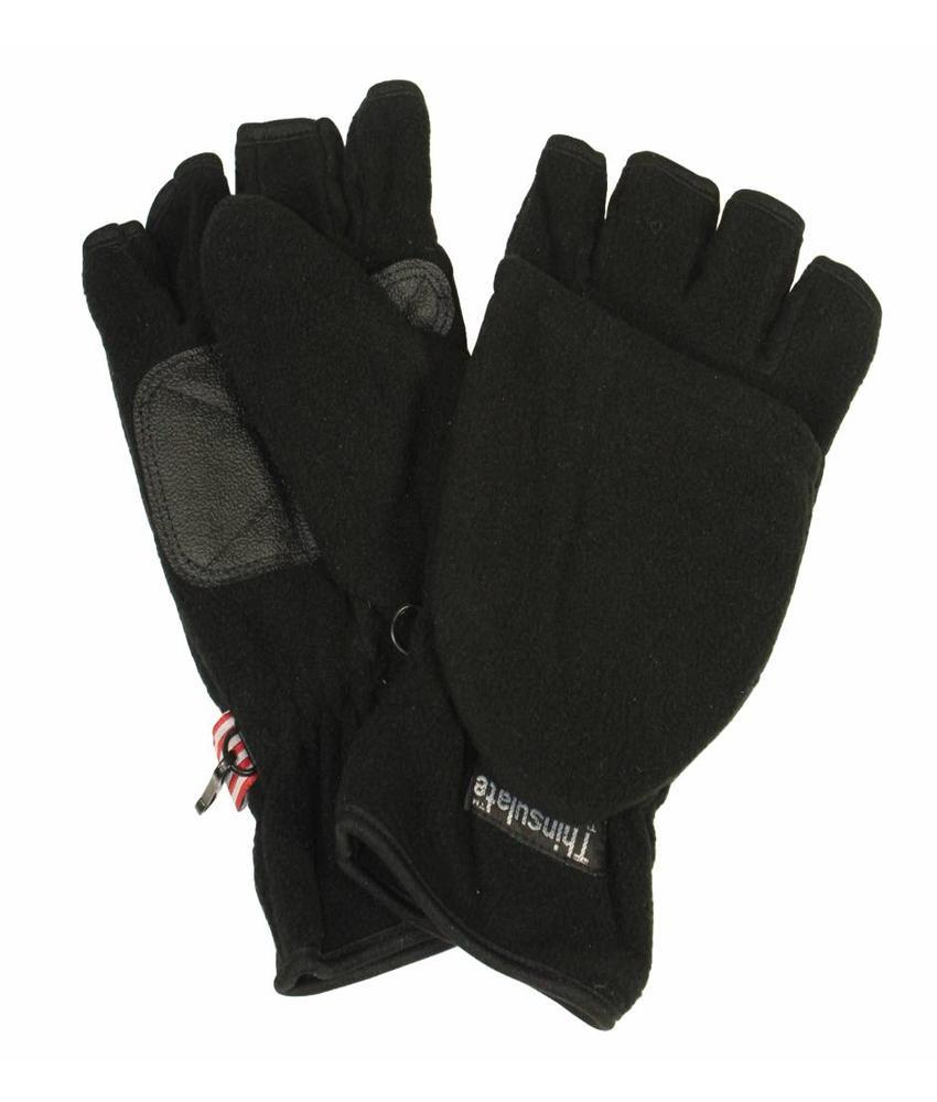 Fleece handschoen zonder vingers met flap