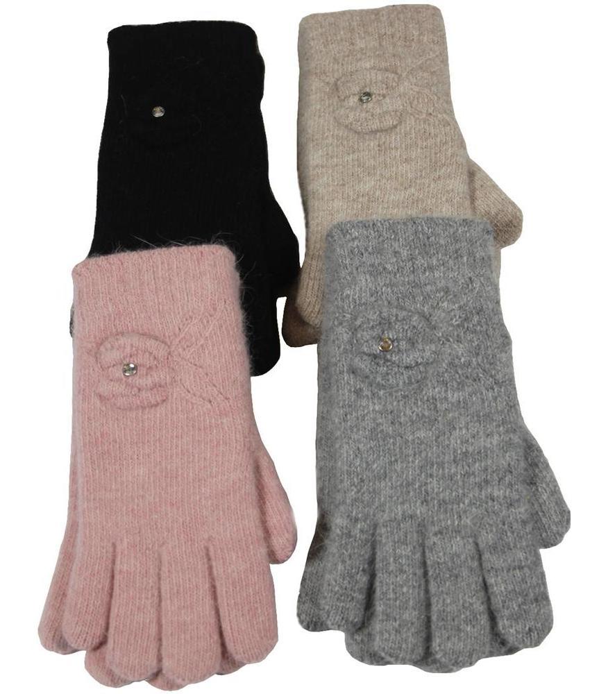 Handschoenen Dames pels steentje