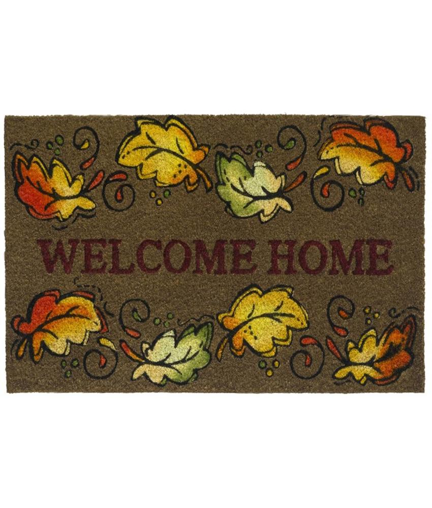 Kokosmat Welcome home leaves 40x60 cm.