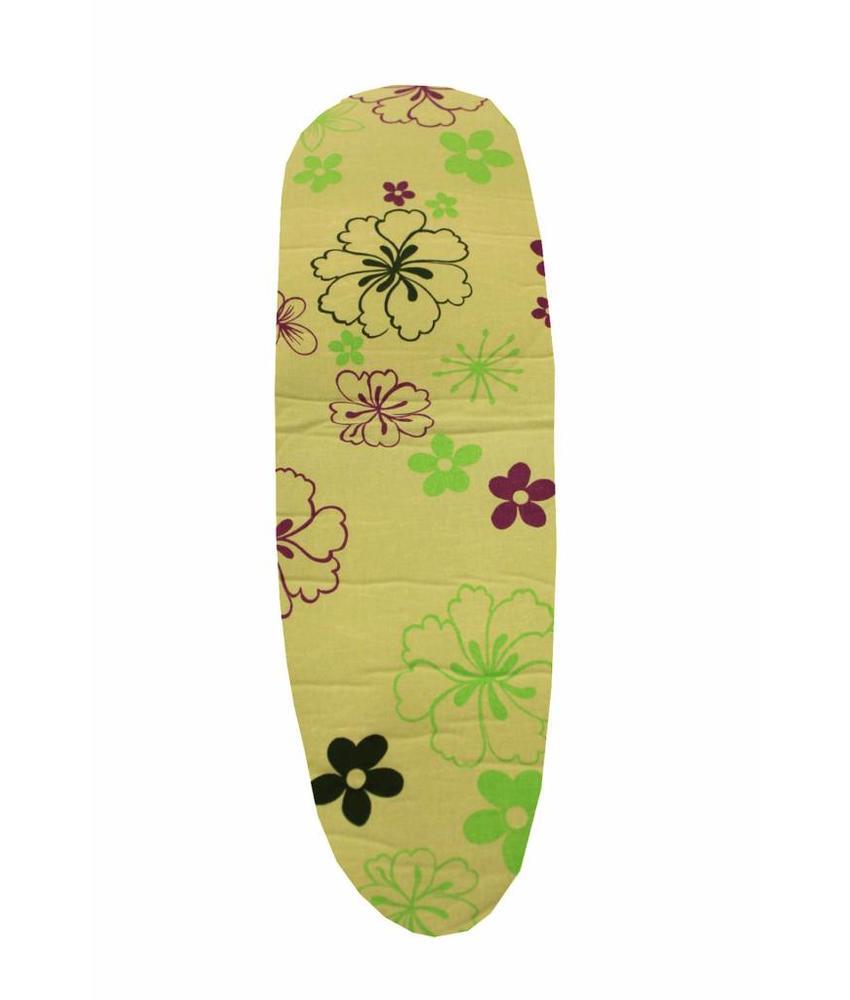 Mouwplankovertrek 59 cm x 21 cm Groen met bloemmotief