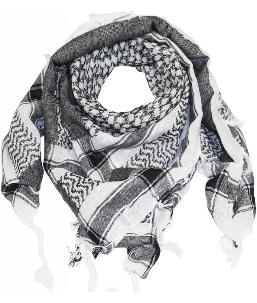 Arafat PLO sjaal Wit/Zwart