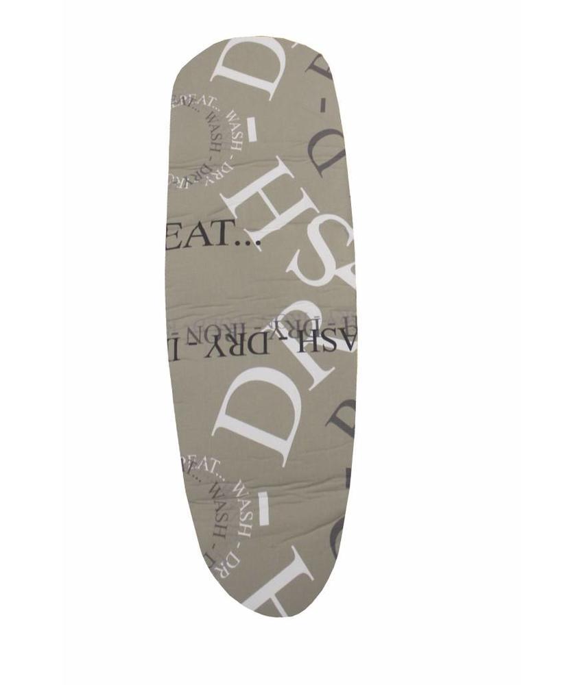 Mouwplankovertrek 59 cm x 21 cm Beige / repeat fold
