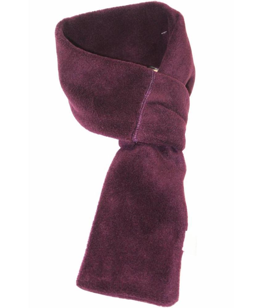 Doorsteek Sjaal fleece Mauve