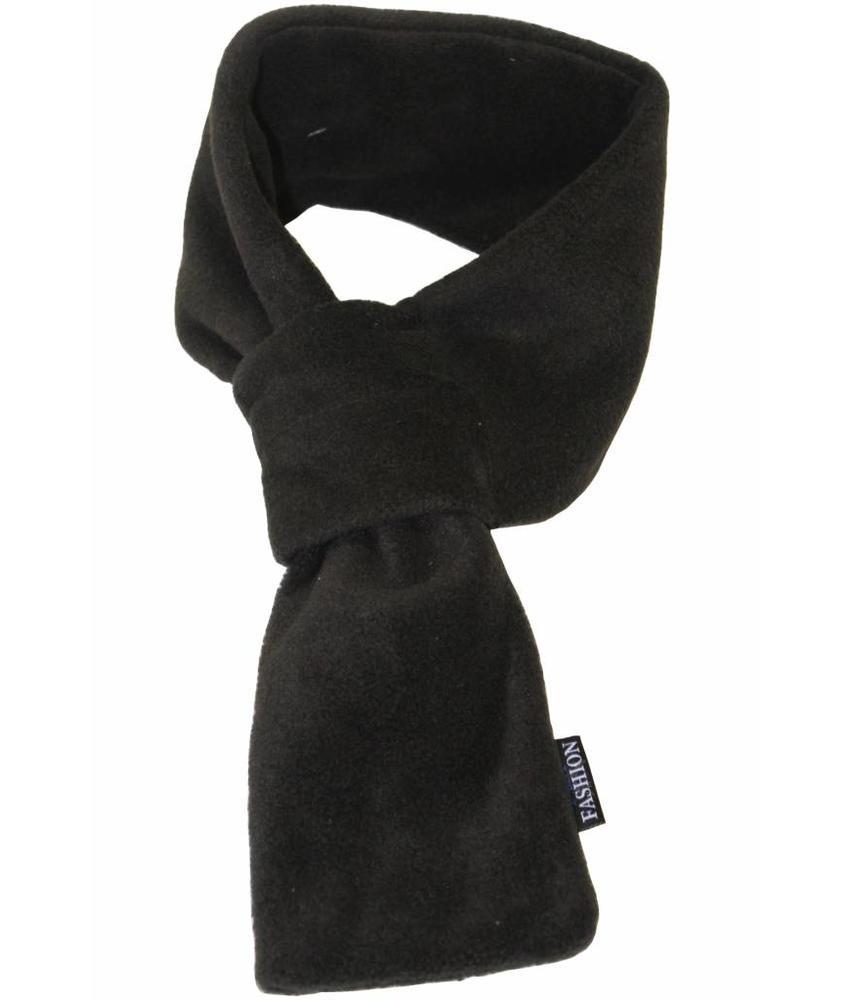 Doorsteek Sjaal fleece Zwart