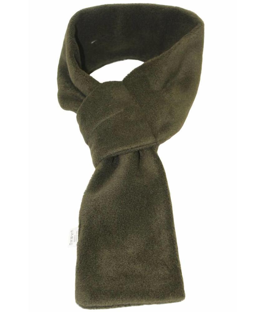 Doorsteek Sjaal fleece Kaki
