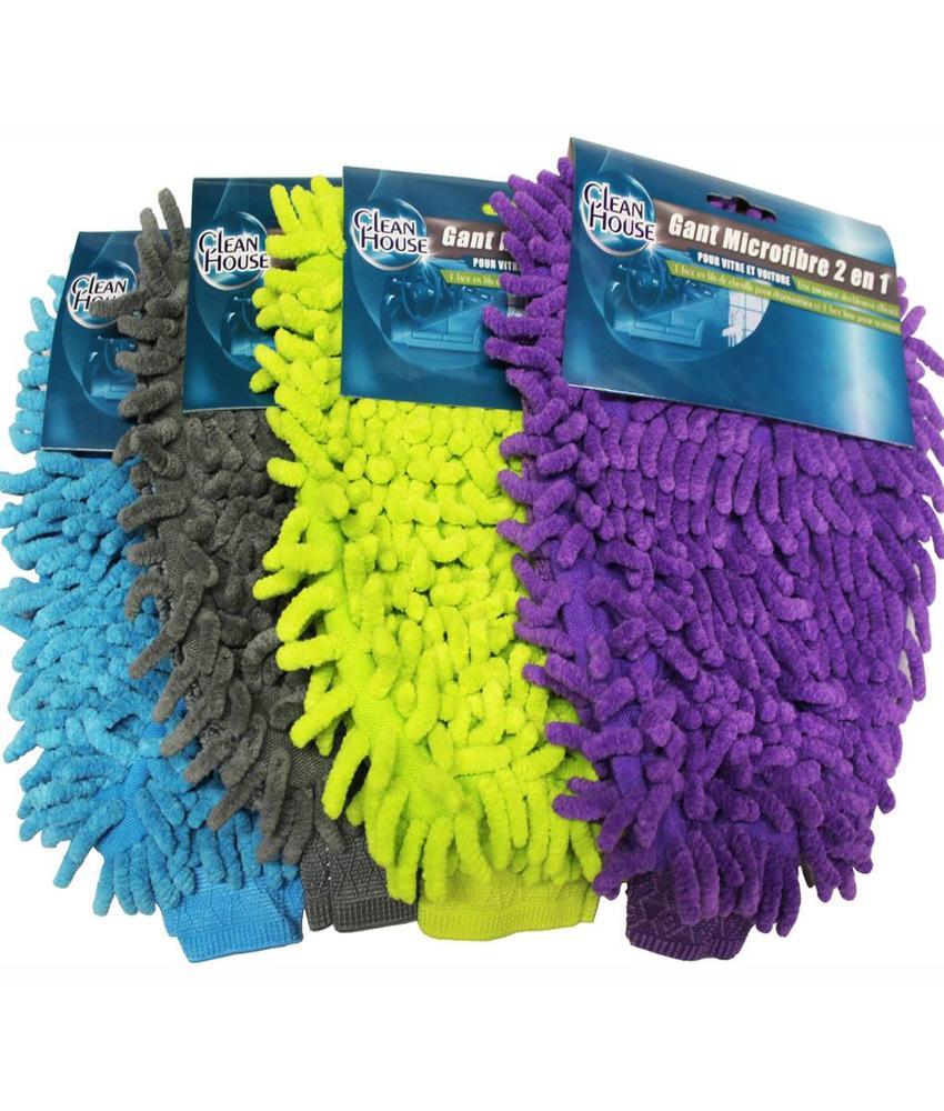 Washandschoen microvezel Fluffy