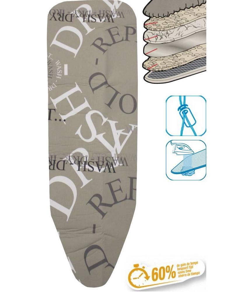 Strijkplankhoes 5 lagen maat C Beige / repeat fold