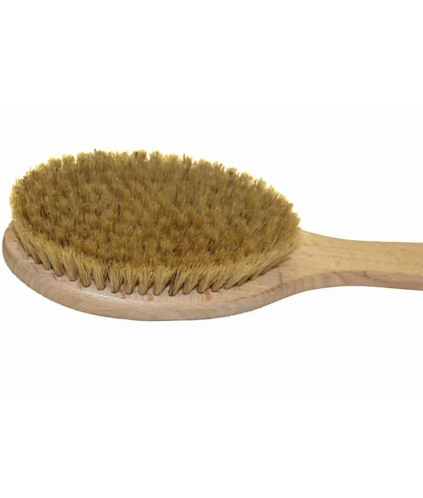 Badborstel massage hout / zuiver haar