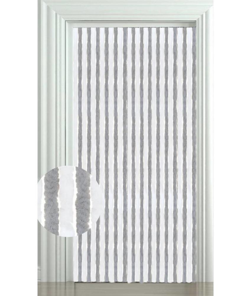 Vliegengordijn kattenstaart 100x220 cm. Wit/Grijs